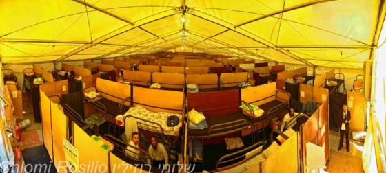מבט על חדרי האוהל מלמעלה